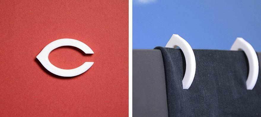 広島カープのロゴを3D印刷した雑貨