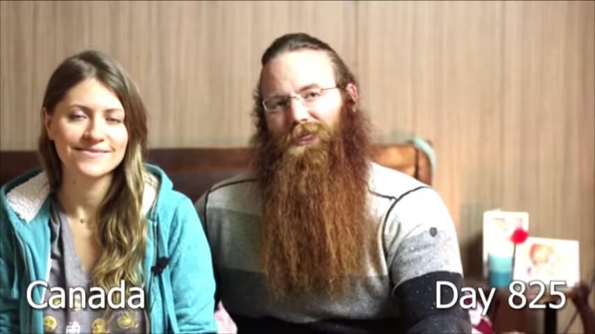 髭を2年半剃らなかった男性-800日目