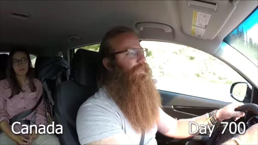 髭を2年半剃らなかった男性-700日目