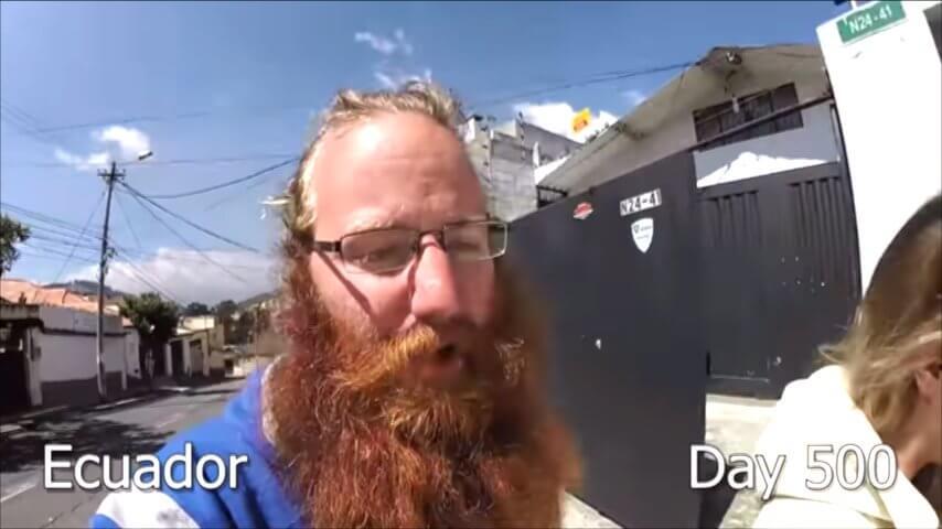 髭を2年半剃らなかった男性-500日目