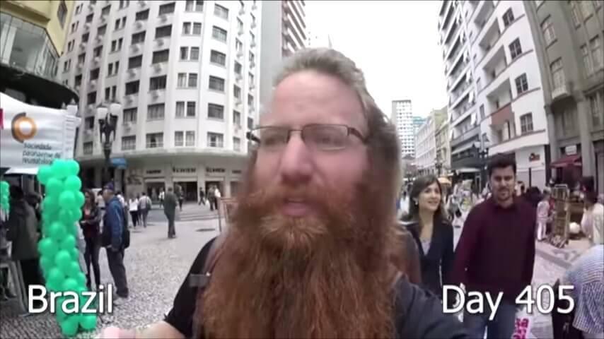 髭を2年半剃らなかった男性-400日目