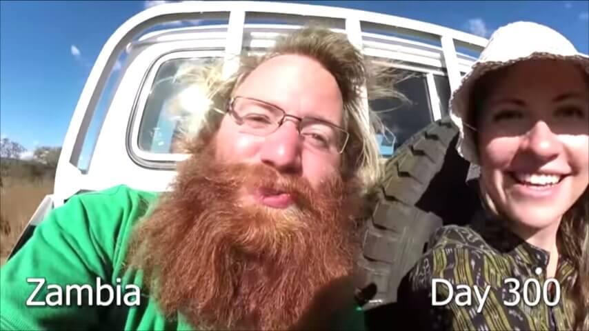 髭を2年半剃らなかった男性-300日目