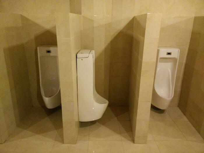 設計ミスの変なトイレ
