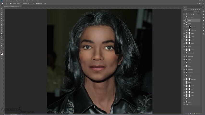 マイケル・ジャクソンが整形をしていなかった場合の顔