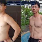 漫画「ワンパンマン」のトレーニングメニュー(腕立て100回・腹筋100回・ランニング10km)を1ヶ月間こなした男性、想像以上のダイエット効果でムキムキになる