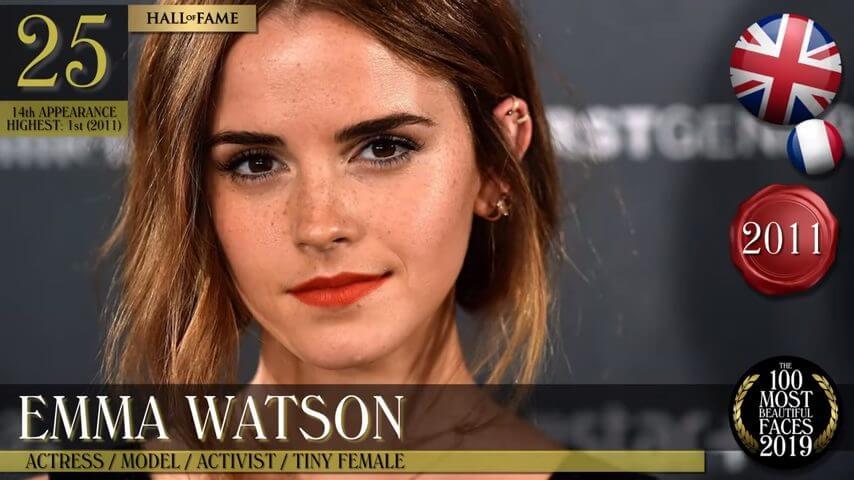 世界で最も美しい顔の女性-2019-エマ・ワトソン